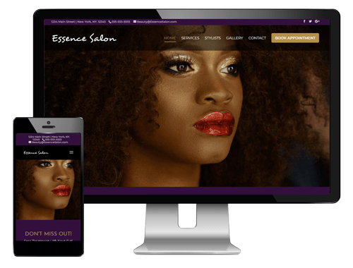 African American salon website template