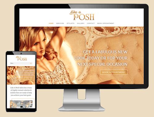 A posh hair salon website design
