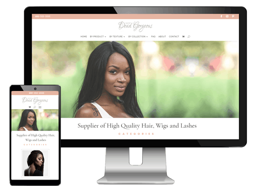 Website Templates for Hair Suppliers