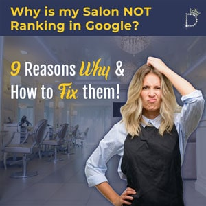 Why is my salon not ranking in Google?