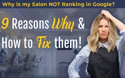Why is my Salon website not ranking in Google?